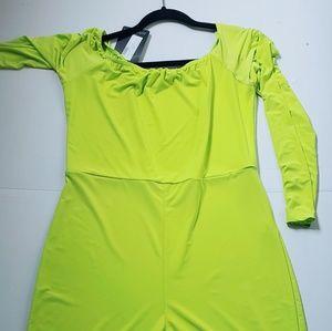 Lime green romper
